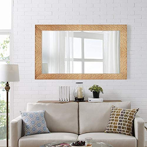 Hans Alice Large Wall Mirror for Bathroom, Bedroom, Living Room Hanging Horizontal or Vertical, Dressing or Full Length Mirror Commercial Grade 90 CRI 47 x 28