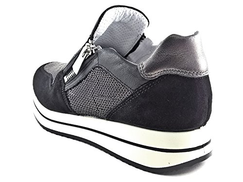Pelle Donna Scarpa amp;co Sneaker 7773 Nero Italy In Made Igi wYHWUq