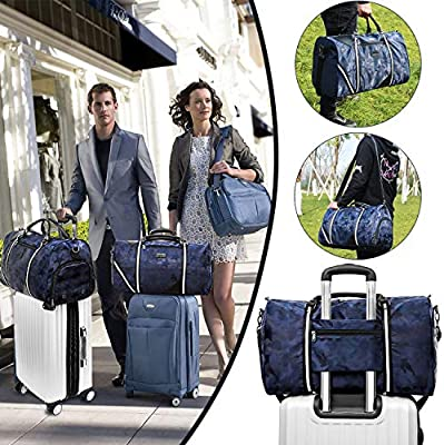 5c5dca4de19b AmHoo Travel Duffel Bag Waterproof Nylon Weekender Gym Bag +Isolated ...