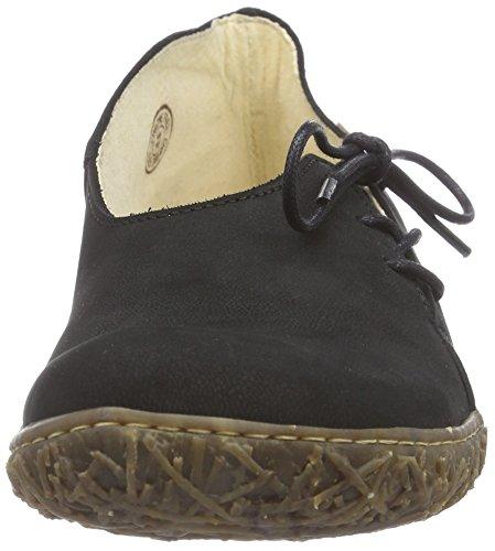 El Naturalista N756 NIDO - zapatos con cordones de cuero mujer negro - negro