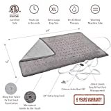 "XL Heating Pad - Electric Heating Pad for Moist and Dry Heat Therapy - Fast Neck/Shoulder/Back Pain Relief at Home - 12"" x 24"", GENIANI (Tabby Gray)"