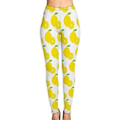 Abusss Pantalons Yoga de Tela Deportivos de Cintura Alta Pantalones de Lemon Patterns Womens Ultra Soft Leggings Fashion High Waist Yoga Pants Printed Sport Workout Leggings Tight Pants: Ropa y accesorios