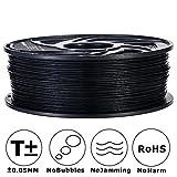 3D MARS Black 3D Printing Filament,1.75mm 3D Printer PLA Filament,Dimensional Accuracy +/- 0.05mm,1.2kg Spool 1.75 mm Filament PLA 3D Filament for Most 3D Printer & 3D Pen