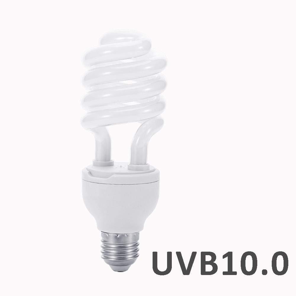 Wavess UVB Light Bulb UV Lamp 26w Calcium Supplement Lamp for Reptile Tortoise ,UVB 5.0 UVB 10.0 E27 Screw