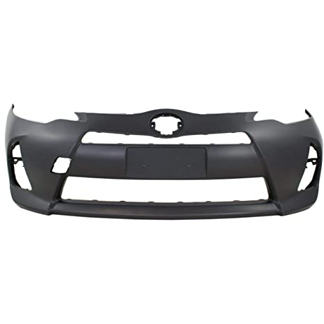 Front Bumper Cover For 2012-2014 Toyota Prius C w// fog lamp holes Primed