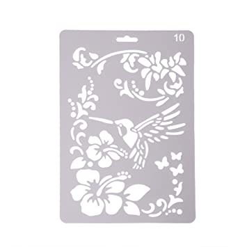 waterstone bullet journal stencil plateplastic drawing painting stencil templates for kids craftswashable - Kids Painting Templates