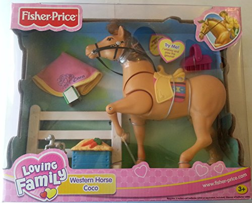 Fisher Price Loving Family Horse - Fisher-Price Loving Family Western Horse Coco