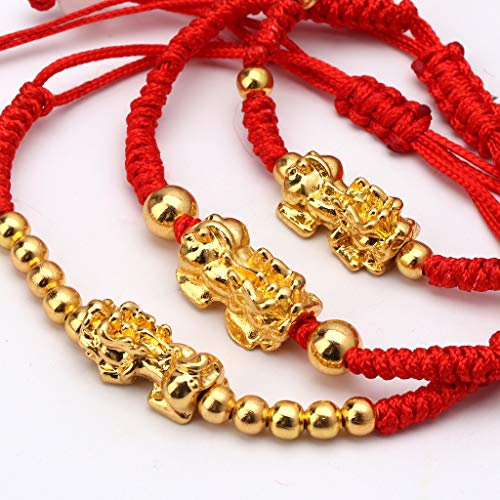 puhoon Chinese Feng Shui Bracelet, Pi Xiu Kabbalah, Red String Lucky Protection (C) by puhoon (Image #2)
