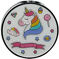 JUNGEN Caja de lentes redondo con Patrón de dibujos animados unicornio y flamenco Estuche de lentes de contacto con Estuche de lentillas Pinza Aplicador Botella Espejo Incorporado (Negro): Amazon.es: Salud y cuidado