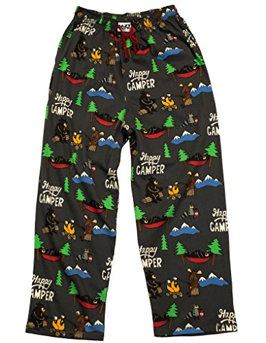 Lazy One Pajama Pants for Men, Men's Separate Bottoms, Lounge Pants (Pjs Christmas Beary)