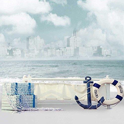3x5ft Vinyl Nautical Anchor Sailor Lifebuoy Life Ring Paddle Photography Studio Backdrop Background