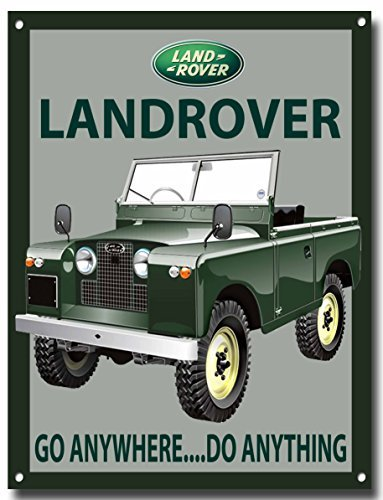 Landrover Series 2 SWB metal sign with enamelled finish Vintage Sign Designs