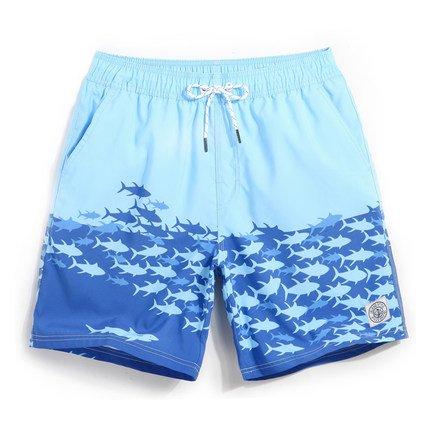 Beach Herren Hose schnelltrocknend Easy Plus Größe Urlaub Hot Pants Casual Pants Badehose gefüttert Shorts