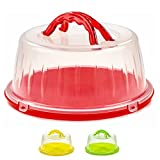 DecorRack Cake Saver, Cake Container -BPA Free, Red