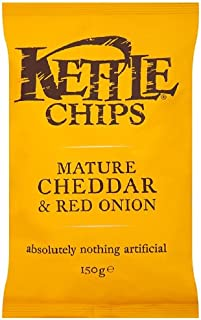 product image for Kettle Mature Cheddar And Red Onion Chips 150 G (Pack Of 12)