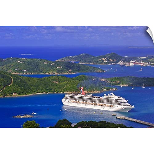 - CANVAS ON DEMAND Michael DeFreitas Wall Peel Wall Art Print Entitled St. Thomas, US Virgin Islands. Aerial View of St. Thomas 18