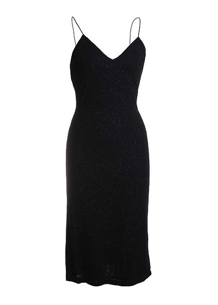 Amazon Alice Olivia Stila Fitted Side Slit Dress In Black
