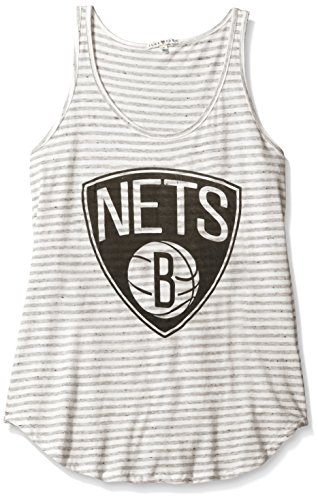 Brooklyn Ringer (NBA Brooklyn Nets Women's All Star Tank Top, X-Small, Sugar/Gray)
