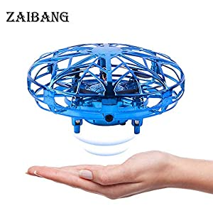 ZAIBANG UFO Mini Drone, Kids Toys Hand Controlled Helicopter RC Quadcopter Infrared Induction Flying Toys Aircraft Games Gifts for Boys Girls Adults Indoor Outdoor Garden Ball Toys 51Zz9twFK5L