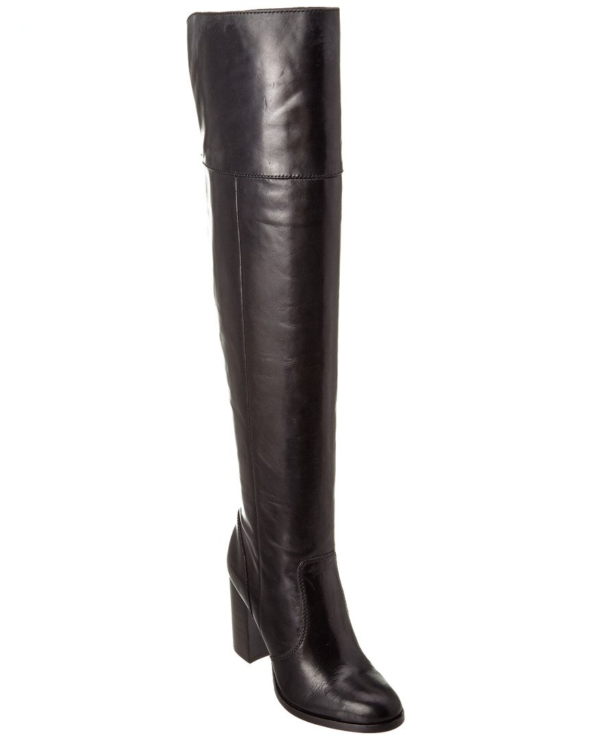 FRYE Women's Claude OTK Leather Slouch Boot B0191ZK7XY 5.5 B(M) US|Black Smooth Vintage Leather