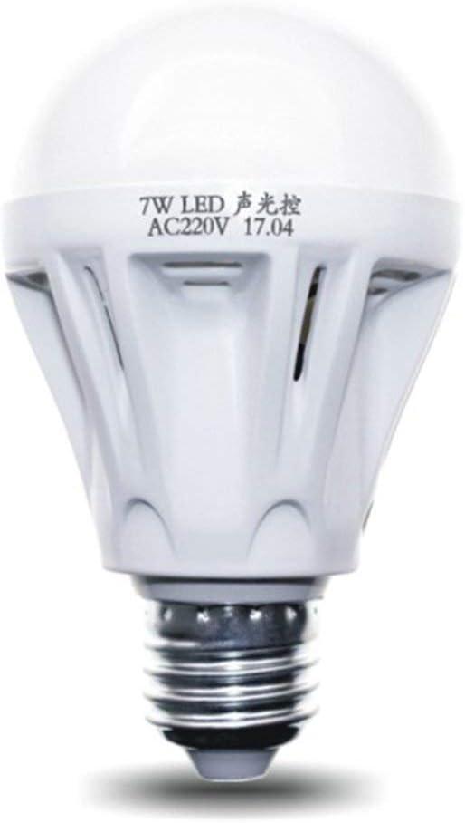Control de alta calidad Sensor de luz E27 Detector de movimiento Led Bombilla Lámpara Escalera Pasillo Camino Pasillo Noche Iluminación (blanco) ToGames-ES: Amazon.es: Iluminación
