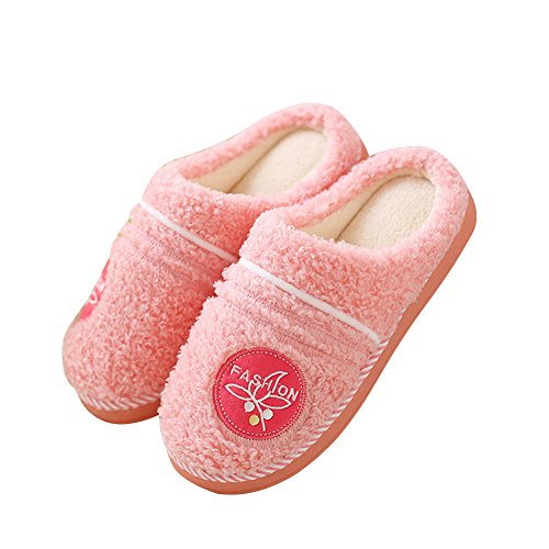 Comfort resistant Pink Slip Winter House Slippers Hevinle Womens Womens Hevinle SCXXIq