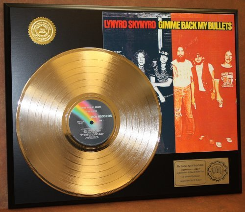Lynyrd Skynyrd'Gimme Back My Bullets' 24Kt Gold LP Record LTD Edition Display Gold Record Outlet