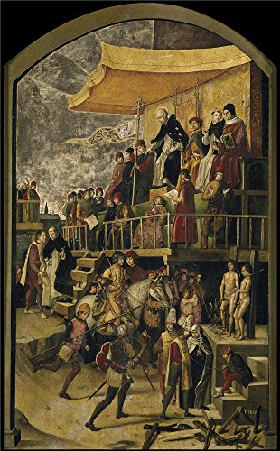 Diy Storybook Costumes For Boys (Oil Painting 'Berruguete Pedro Saint Dominic Presides Over An Auto Da Fe Ca. 1495' 30 x 48 inch / 76 x 123 cm , on High Definition HD canvas prints, gifts for Home Theater, Powder Room And Stu decor)