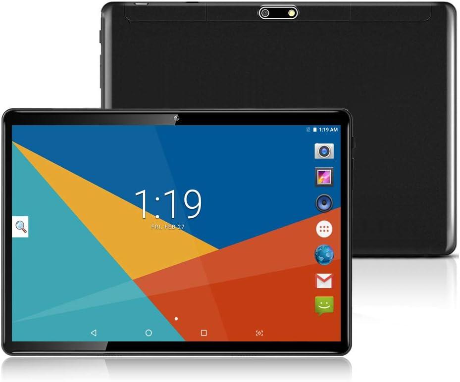 Tablet 10 Pulgadas Tablets PC( Android 8.1, 3G, WiFi, Octa Core, 4 GB de RAM, 64 GB de ROM, GPS, Dual SIM Card, 1080P ), (Negro)