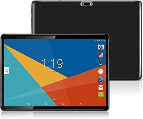 10 Inch Tablet Phone,8 Core Tablets PC,Android 8.0,Octa Core,1920x1200 IPS,4GB RAM,64GB ROM,3G 4G LTE Double SIM WiFi GPS Black