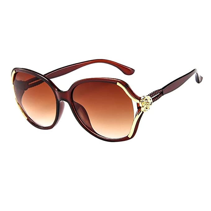 VJGOAL moda clásica mujer rosa grande marco Retro gafas de ...