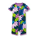 The Children's Place Baby Girls Short Sleeve One-Piece Pajamas, Tidal, 3T