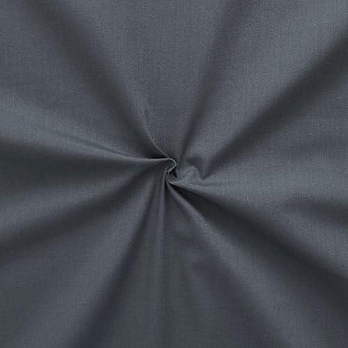 Tela de algodón poliéster como batista tela metro color gris ...