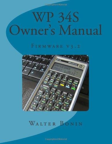 WP 34S Owner's Manual: Firmware v3.2