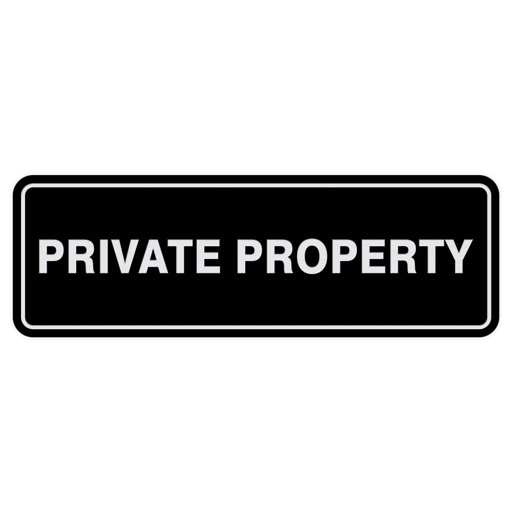 Small All Quality Lt Gray Standard Private Property Door//Wall Sign