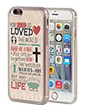 iPhone 6 Plus Case,iPhone 6S Plus Case,BWOOLL Christian Quotes Bible Verse John 3:16 Design Slim Anti-Scratch Shockproof Clear TPU Rubber Protective Cover for iPhone 6 Plus/iPhone 6S Plus (5.5 inch)