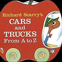 Illustrated in full color. This car-and- truck-filled alphabet extravaganza that starts with an ambulance and ends with a zippercar, is shaped like Lowly Worm's applemobile.