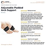 Copper Compression Adjustable Padded Arch Support