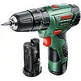 Bosch 0 603 983 90A Atornillador/Taladro de percusión con batería de Litio, 21.6 W, Negro, Verde, Rojo, 10.8 V