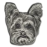PinMart Silver 3D Yorkshire Terrier Dog Breed Dog Lover Lapel Pin