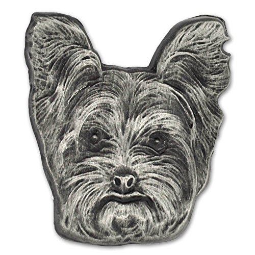 PinMart Silver 3D Yorkshire Terrier Dog Breed Dog Lover Lapel Pin (Yorkie Pin)
