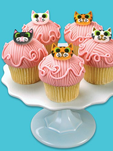 24 Cat Cats  Iced Icing Frosting Cupcake Topper Edible Fairy Cake Bun Toppers