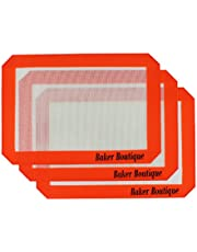 "Silicone Baking Mat Set of 3 Non Stick Reusable Flexible Heat Resistant Red, 11.6"" x 8"""
