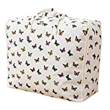Mily Oversize Quilt Storage Bag Cute Print Pattern Dustproof And Moisture Can Foldable Storage Bag for Beddings, Comforters, Quilt, Blanket, Pillows, Garments, Sweaters
