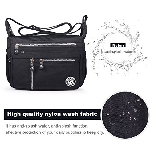 Crossbody black Splash Shoulder Women Anti ABLE Bags Water 4 Messenger qYznw