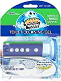 Scrubbing Bubbles Fresh Gel Toilet Cleaning Stamp, Citrus, Dispenser with 6 Stamps
