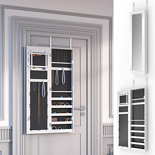 Schmuckschrank Spiegelschrank Hängeschrank Türmontage/Wandmontage Schmuckkasten Wandspiegel Lea