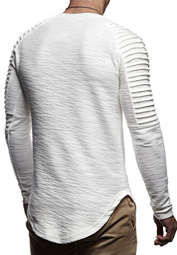 Leif Nelson Mens Pullover Long Sleeve t-Shirt Sweater Slim fit Sweatshirt Hoodie,Ecru,X-Large by Leif Nelson (Image #2)