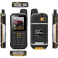 CECTDIGI F8 Dual Sim Unlocked Cell Phone PTT Walkie Talkie Phone 3000mah Battery Power Bank Waterproof IP67 Rugged Phone (Yellow)