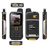 Cectdigi F8 Walkie Talkie Dual Sim Card Phone with Power Bank Charging Function,3000mAh Large Battery Capacity Rugged Phone (Yellow, No TF Card)